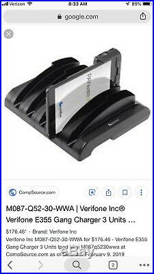 10 Pack Case Of M087-Q52-30-NAA Verifone E355 3 Unit Gang Charger. 1 Set Of 10