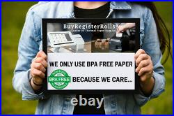 2 1/4 X 50' Thermal Paper 50 Rolls X 10 Cases For Verifone Vx520 Bpa Free