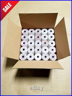 3 X 65' 3-ply White/canary/pink (100 Rolls) for Verifone Omni Printer 250, 900