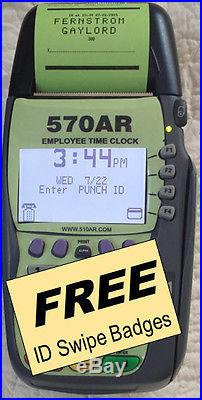 570 Swipe Card Entry System Digital Employee TimeClock small business office