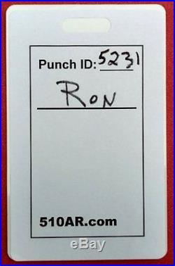 610AR BATTERY OPERATED Digital Employee Time Clock, Punch/swipe, payroll