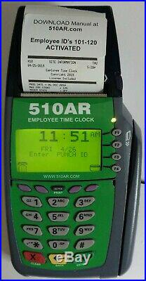 CONSTRUCTION Time Clock digital hours, on job site recording without AC power
