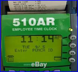 Employee Punch/Swipe Time Clock Keeper FREESTANDING with 10 ID Cards & printer