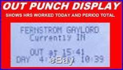Employee Time Clock Punch/swipe Payroll Attendance Recorder LCD Digital Hours