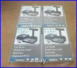 Lot Of 4 New Verifone P040-07-507 Ruby Cards