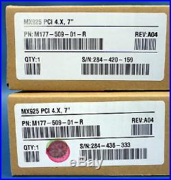 Lot of 2 VERIFONE Credit / Debit PinPad Terminal MX925 PCI 4. X, 7 M177-509-01-R