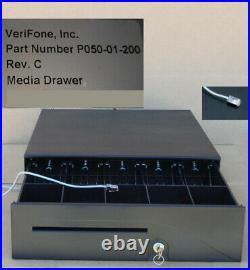 NEW VeriFone P050-01-200 Cash Drawer Topaz, Ruby2 with till, two keys, cable