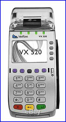 NEW VeriFone VX-520 DualCom CTLS NAA 128/32 MB with Chip Reader