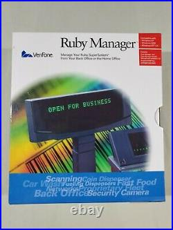 New VeriFone Ruby Manager v. 1.43,1.53 and Manual (3 boxes) NEW