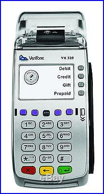 New VeriFone VX520 EMV NFC Credit Card Machine UNLOCKED M252-653-AD-NAA-3