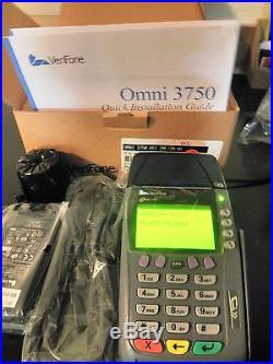 New Verifone Omni 3750 Dual Com Terminal 4mg Memory Dial Up And Internet