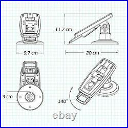 Tailwind Verifone Vx805/Vx820 3 Lockable Compact Pole Mount Terminal Stand