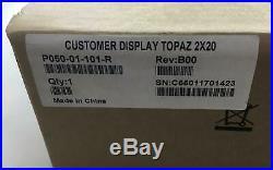 VeriFone Customer Display Topaz 2x20 P0501-01-101-R