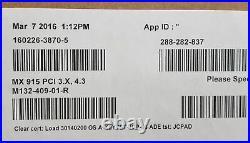 VeriFone MX915 PCI 3. X 4.3 Payment Terminal M132-409-01-R