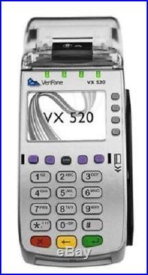 VeriFone VX 520 EMV/NFC Credit Card Terminal (M252-653-AD-NAA-3) Newith Unlocked