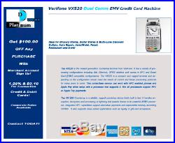 VeriFone Vx520 EMV Credit Card Machine FOR WORLDPAY TRANSFIRST/TSYS ONLY