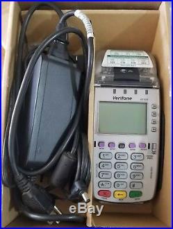 VeriFone Vx520 EMV Credit Card Machine #M252-653 ad NAA-3 Locked
