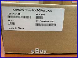 Verifone Topaz 2x20 Customer Display P050-01-101-r New In Box
