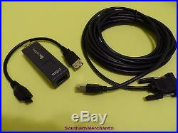 Verifone Vx670 Programming Pc Cable 26264-05 Rs232 Dongle 24122-01-r