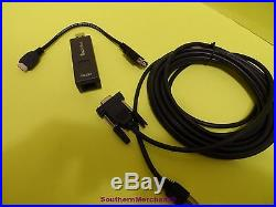 Verifone Vx680 Programming Cables Pc Cable 26264-05 Rs232 Dongle 24122-01-r
