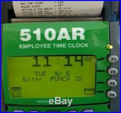 WAREHOUSE Digital Employee Time Clock, FREESTANDING, punch/swipe, printer